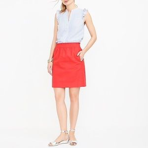 Adorable Red J Crew Skirt